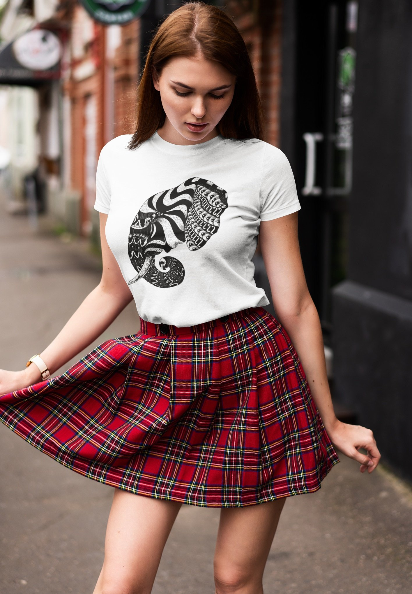Damen ELEPHANT ORNATE ORNAMENT - T-Shirt print