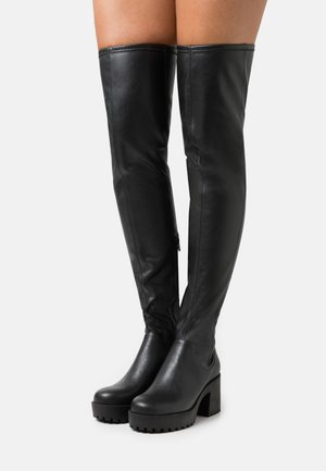 AMOSHI BOOT VEGAN - Over-the-knee boots - black