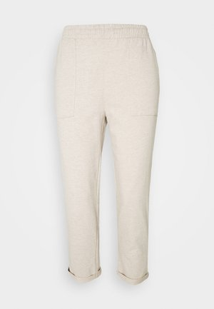 TAPERED LEG JOGGER WITH POCKET DETAIL - Tracksuit bottoms - beige