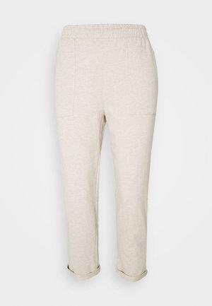 TAPERED LEG JOGGER WITH POCKET DETAIL - Teplákové kalhoty - beige