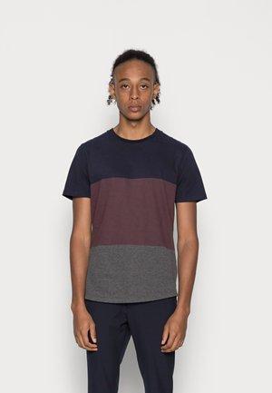 JPRBLALOGAN TEE CREW NECK - T-shirt print - perfect navy