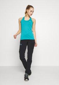 Salewa - AGNER HYBRID DRI REL TANK - Sports shirt - ocean - 1