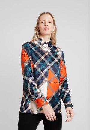 BLOUSE REGULAR FIT HIDDEN - Button-down blouse - combo
