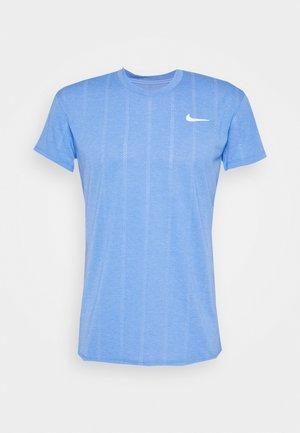 Print T-shirt - royal pulse/white