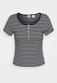 Levi's® - MEG HENLEY TEE - Camiseta estampada - caviar - 3