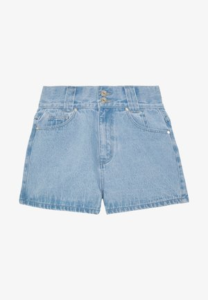 RIOT HIGHWAISTED DOUBLE BUTTON MOM - Short en jean - light wash