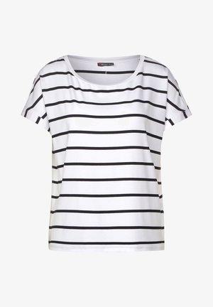 MIT STREIFENMUSTER - Print T-shirt - weiß
