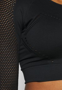 Calvin Klein Performance - LONG SLEEVE SEAMLESS  - Long sleeved top - black - 5