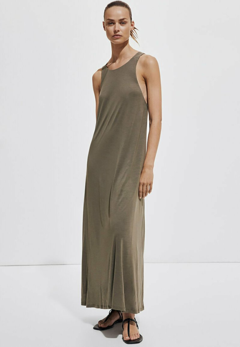 Massimo Dutti - Maxi dress - khaki