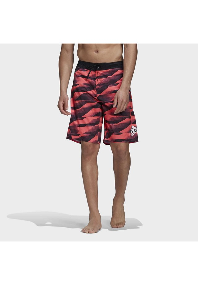 KNEE LENGTH GRAPHIC BOARD SHORTS - Bañador - pink
