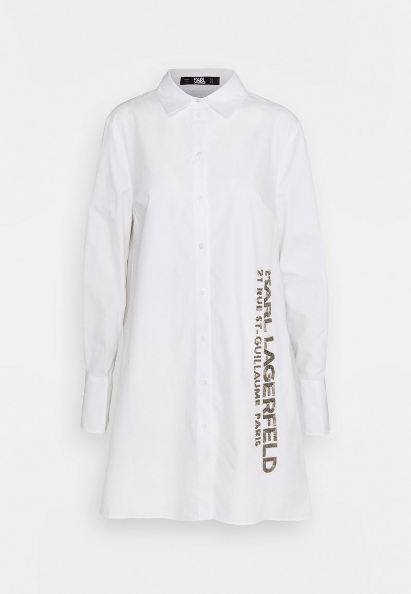 KARL LAGERFELD - EMBELLISHED  - Button-down blouse - white