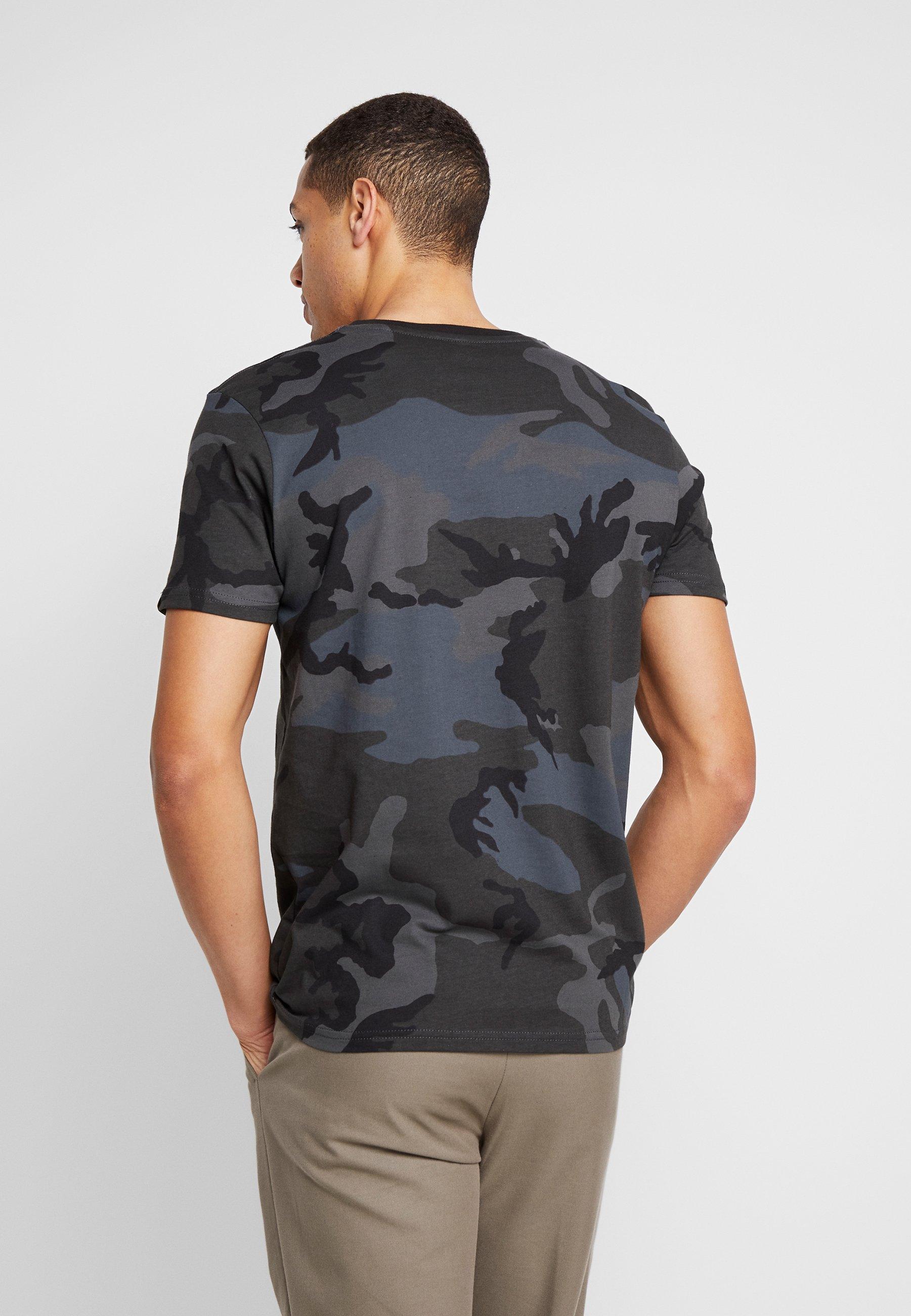 Alpha Industries Print T-shirt - black 8GBIk
