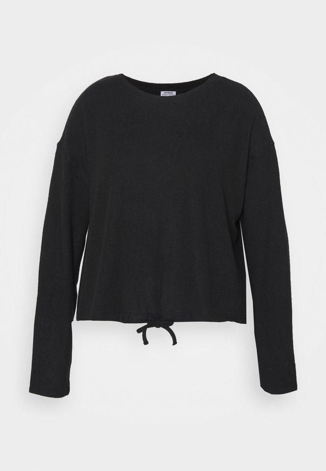 CURVE SUPER SOFT DRAW - Long sleeved top - washed black