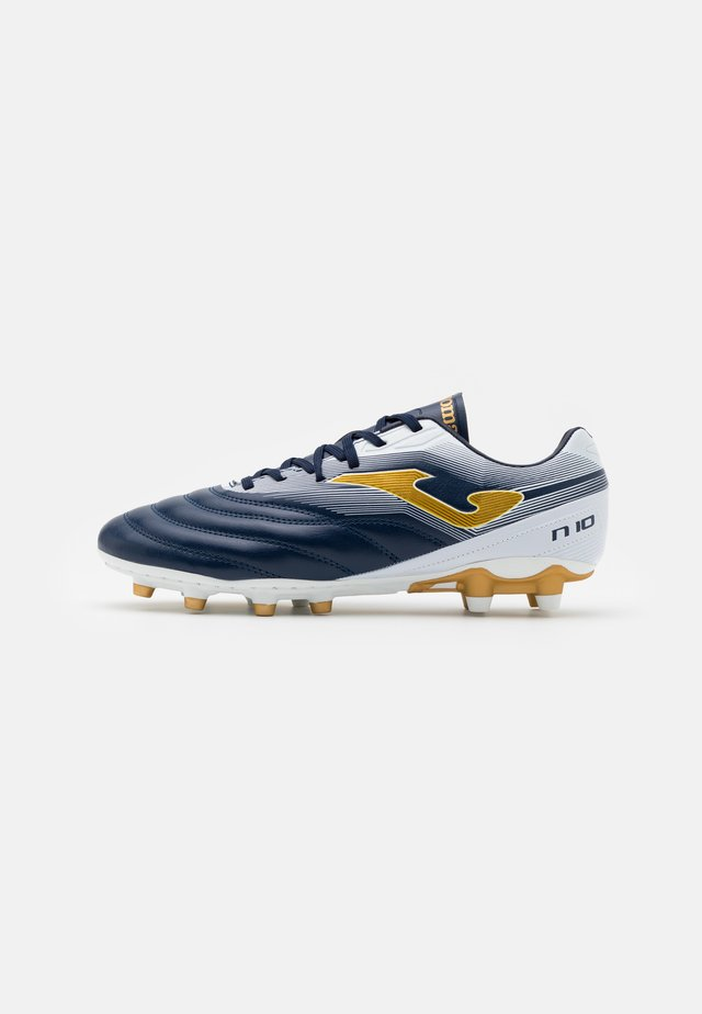 N10 - Moulded stud football boots - blue
