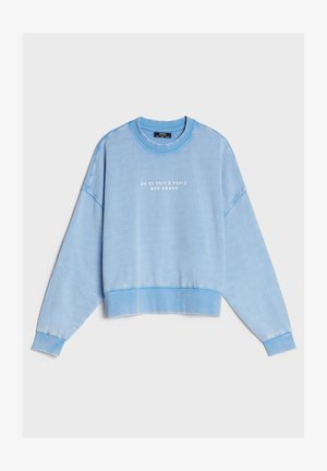 MIT PRINT UND STICKEREI  - Sweatshirt - light blue