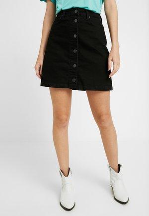 SKIRT - Mini skirt - moto black