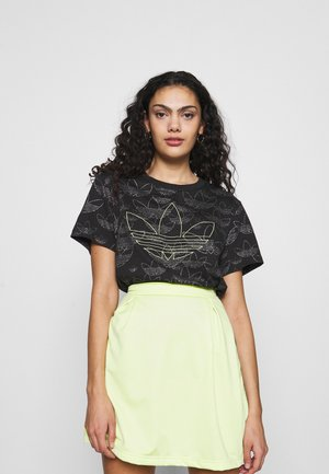 CROPPED - T-shirt print - black