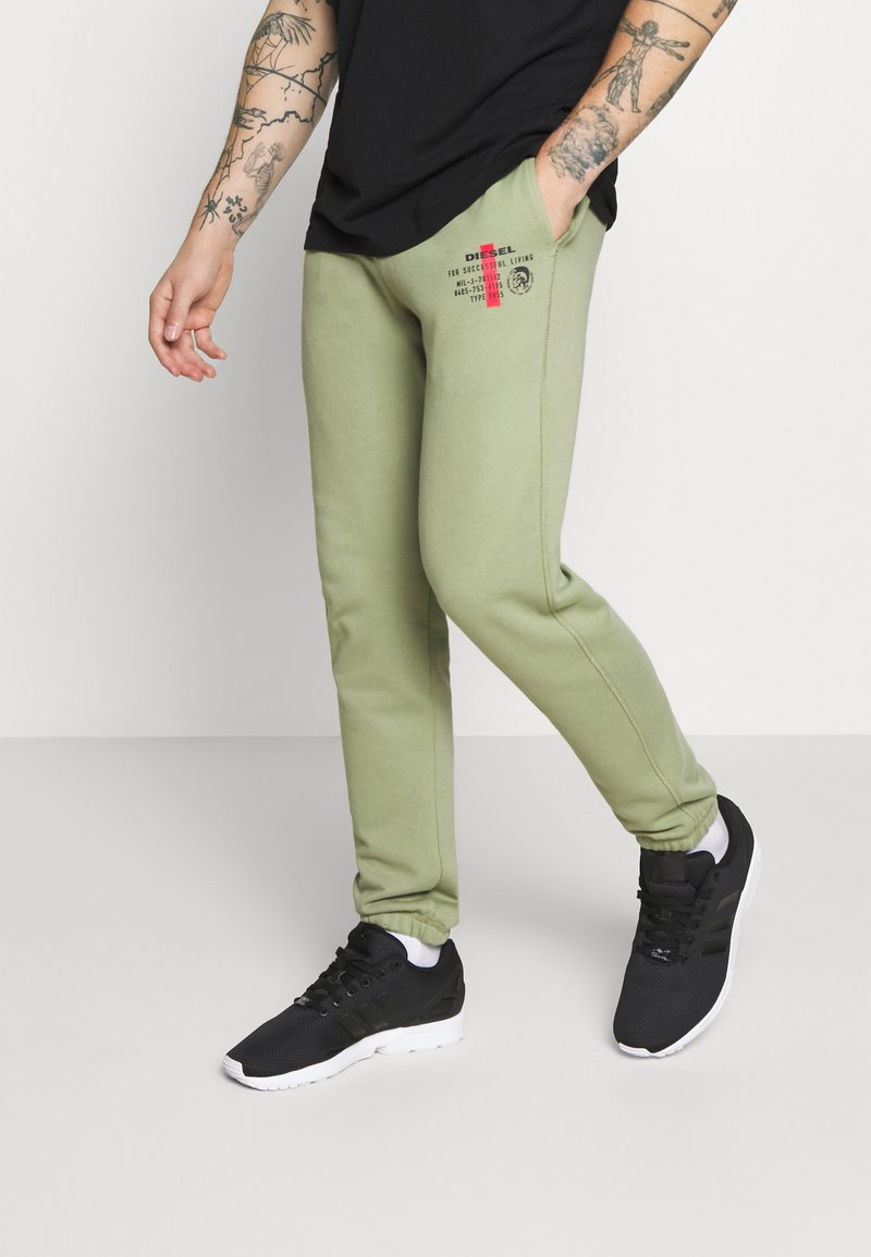 Diesel - PETER TROUSERS - Tracksuit bottoms - olive