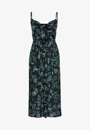 Day dress - schwarz-blau-bedruckt