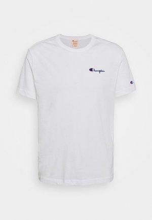 CREWNECK LABELS - Camiseta estampada - white