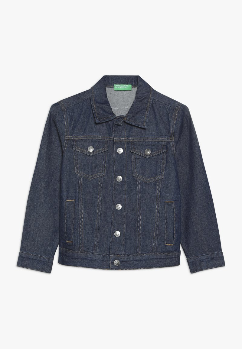Benetton - JACKET - Chaqueta vaquera - blue denim