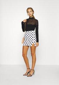 Even&Odd - Mini skirt - white/black - 1
