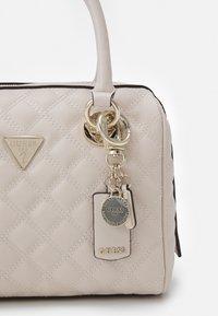 Guess - CESSILY BOX SATCHEL - Handbag - stone - 3