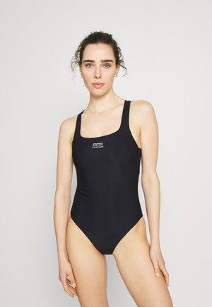 OPEN BACK ONE PIECE - Swimsuit - black