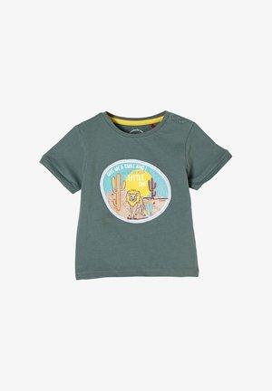 MIT TIER-APPLIKATION - Print T-shirt - petrol