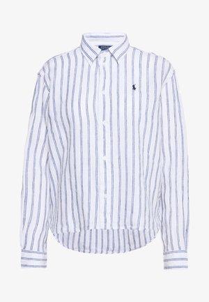 STRIPE - Button-down blouse - white/royal blue