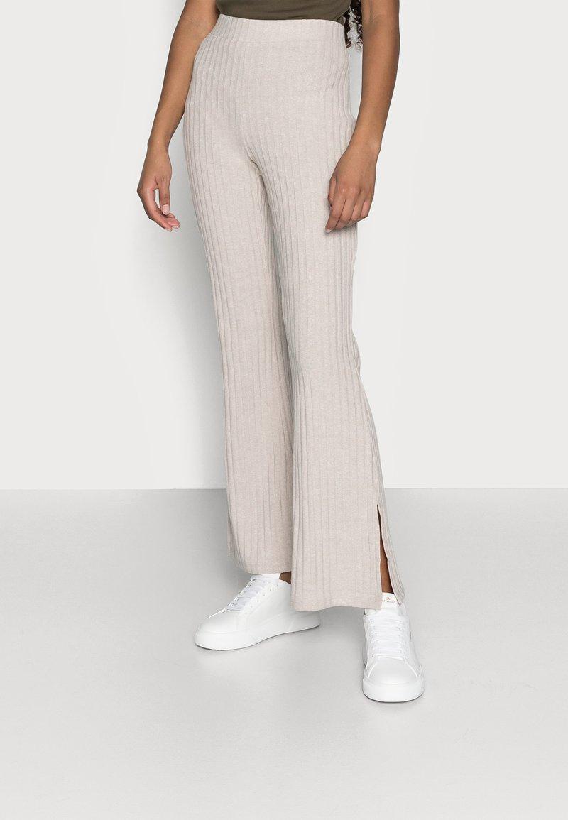 Gina Tricot Petite - TARA TROUSERS - Trousers - beige