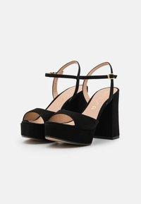 Unisa - VEGARA - Platform sandals - black - 2