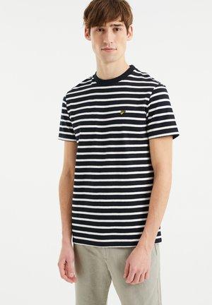MET STREEPDESSIN - T-Shirt print - dark blue
