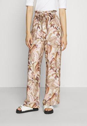 PAULA PRINTED PANT - Spodnie materiałowe - beige