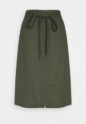 V-TIE FRONT SKIRT - Gonna a campana - baby tweed
