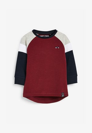 COSY COLOURBLOCK - Long sleeved top - red