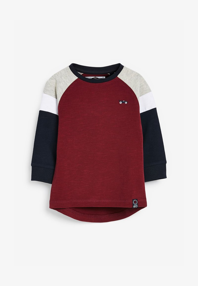 Next - COSY COLOURBLOCK - Long sleeved top - red