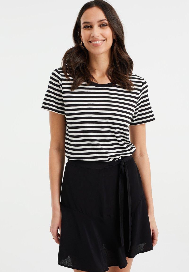 WE Fashion - Print T-shirt - black