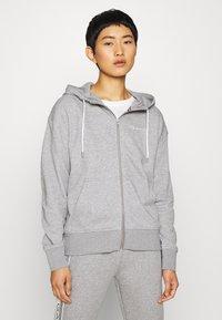 GANT - STRIPES FULL ZIP HOODIE - Zip-up hoodie - grey melange - 2