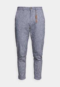 Jack & Jones PREMIUM - JJIACE JJLINEN - Trousers - navy blazer - 4