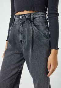 PULL&BEAR - Jeans baggy - mottled grey - 3