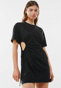 Bershka - Jerseykleid - black - 0