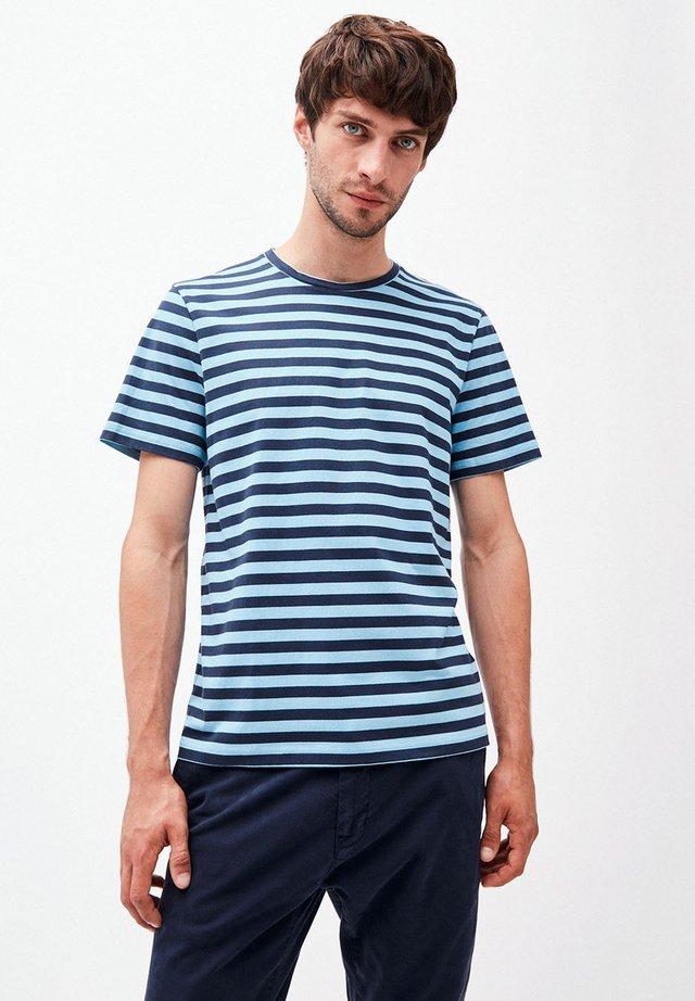 JAAMES BRETON - Print T-shirt - navy-heritage blue