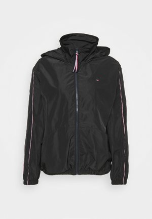 CORY FUNNEL PACKABLE - Summer jacket - black