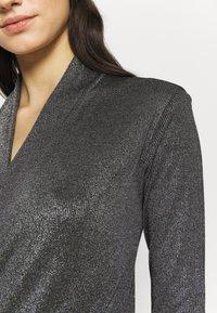 KARL LAGERFELD - WRAP BODY - Long sleeved top - silver - 4