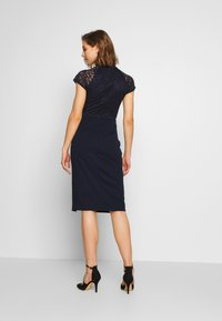 WAL G. - HIGH NECK MIDI DRESS - Pouzdrové šaty - navy blue - 2