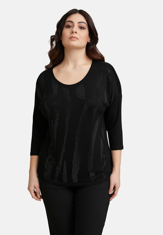 MIT APPLIKATIONEN - Long sleeved top - nero