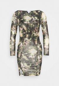 Topshop Petite - TIE DYE MINI - Shift dress - multi - 0
