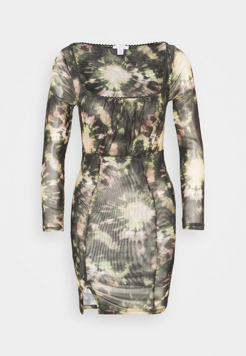 Topshop Petite - TIE DYE MINI - Shift dress - multi