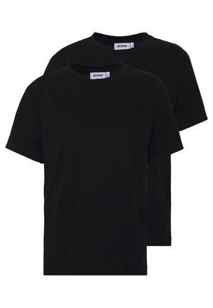 ALANIS 2 PACK - T-shirts basic - black/black